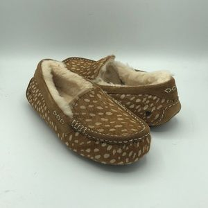 UGG Ansley Idyllwild Cow Hair House Slippers